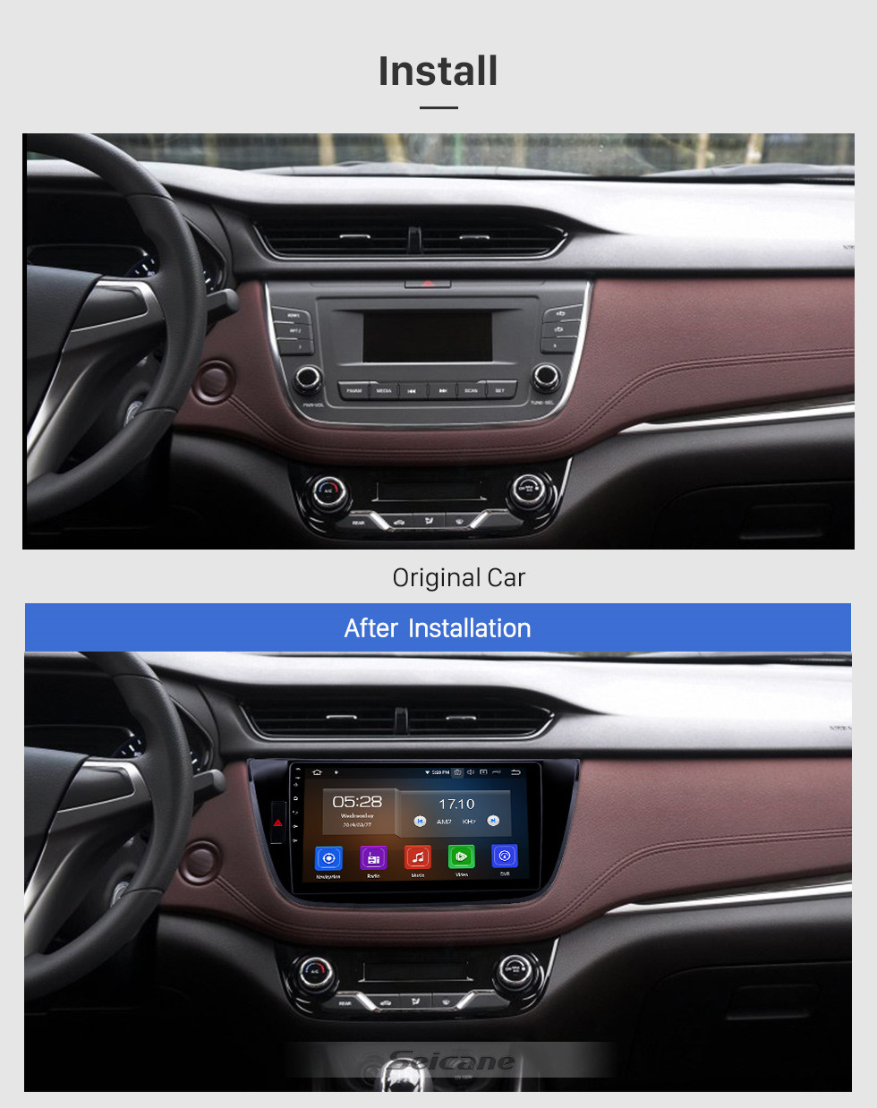Seicane 10.1 inch 2017-2018 Changan LingXuan Android 9.0 GPS Navigation Radio Bluetooth HD Touchscreen AUX Carplay support Mirror Link