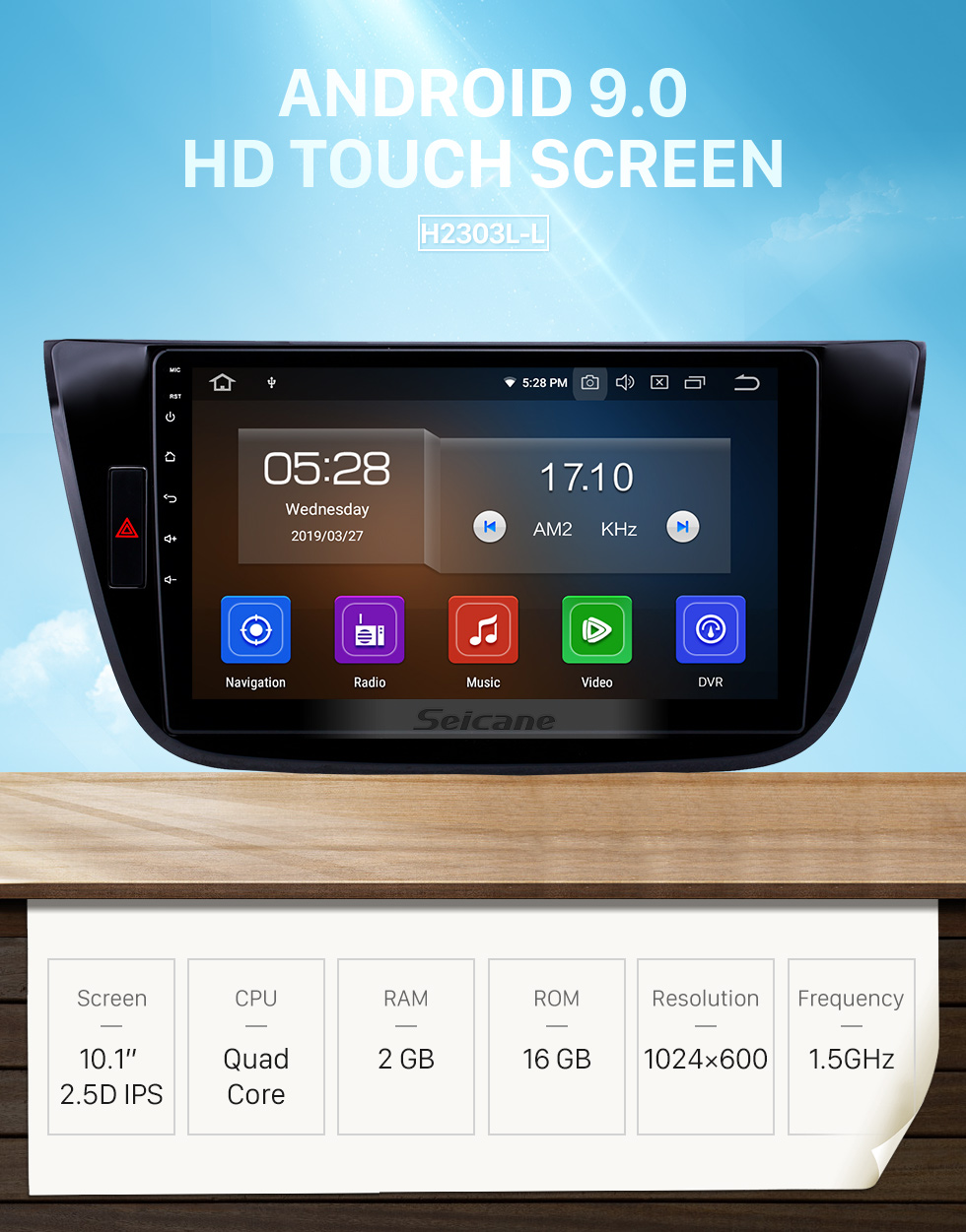 Seicane 10,1 pouces Android 9.0 Radio pour 2017-2018 Changan LingXuan Bluetooth à écran tactile GPS Navigation Carplay USB AUX support TPMS SWC