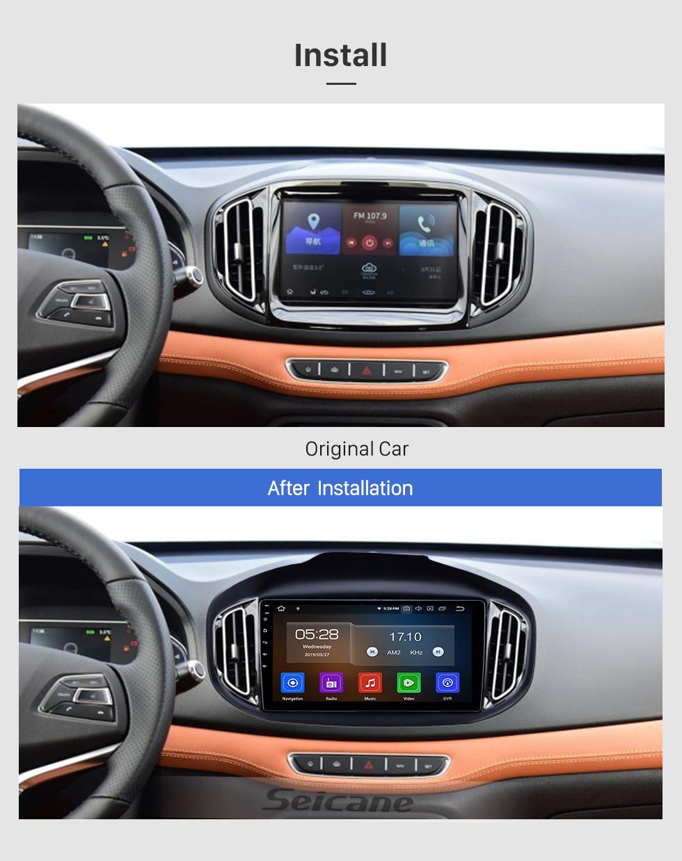 Seicane 10,1 Zoll Android 9.0 Radio für 2016-2018 Chery Tiggo 7 Bluetooth HD Touchscreen GPS-Navigation Carplay USB-Unterstützung TPMS DAB +