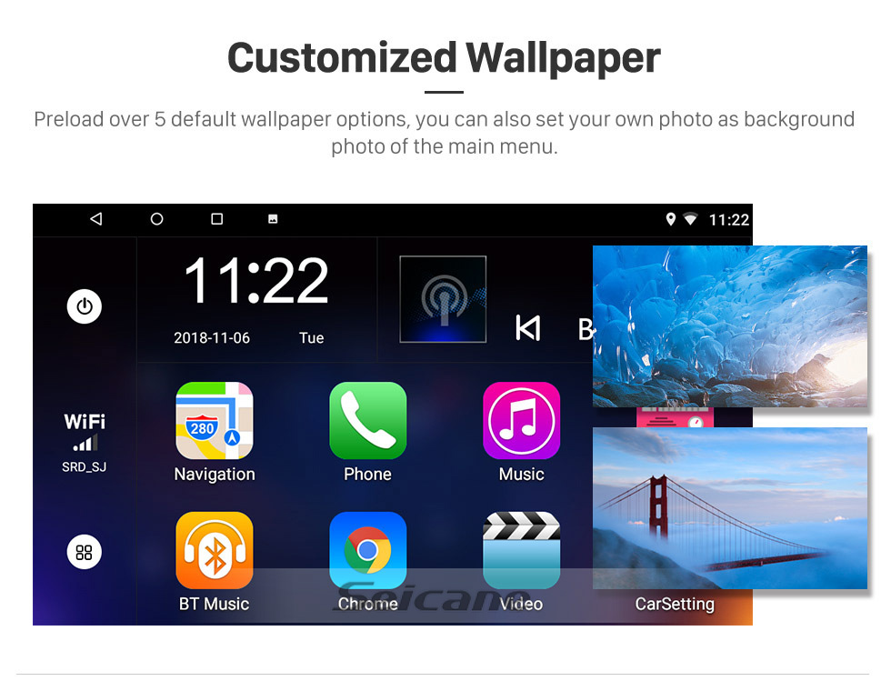 Seicane Android 8.1 10.1 Zoll HD Touchscreen GPS Navigationsradio für den Lexus RX300 RX330 RX350 2003-2010 mit Bluetooth WIFI Unterstützung Carplay SWC