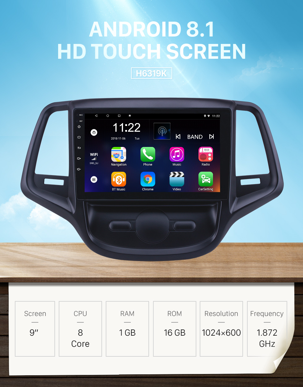 Seicane OEM 9 Zoll Android 8.1 Radio für 2015 Changan EADO Bluetooth WIFI HD Touchscreen GPS Navigation Unterstützung Carplay DVR Rückfahrkamera