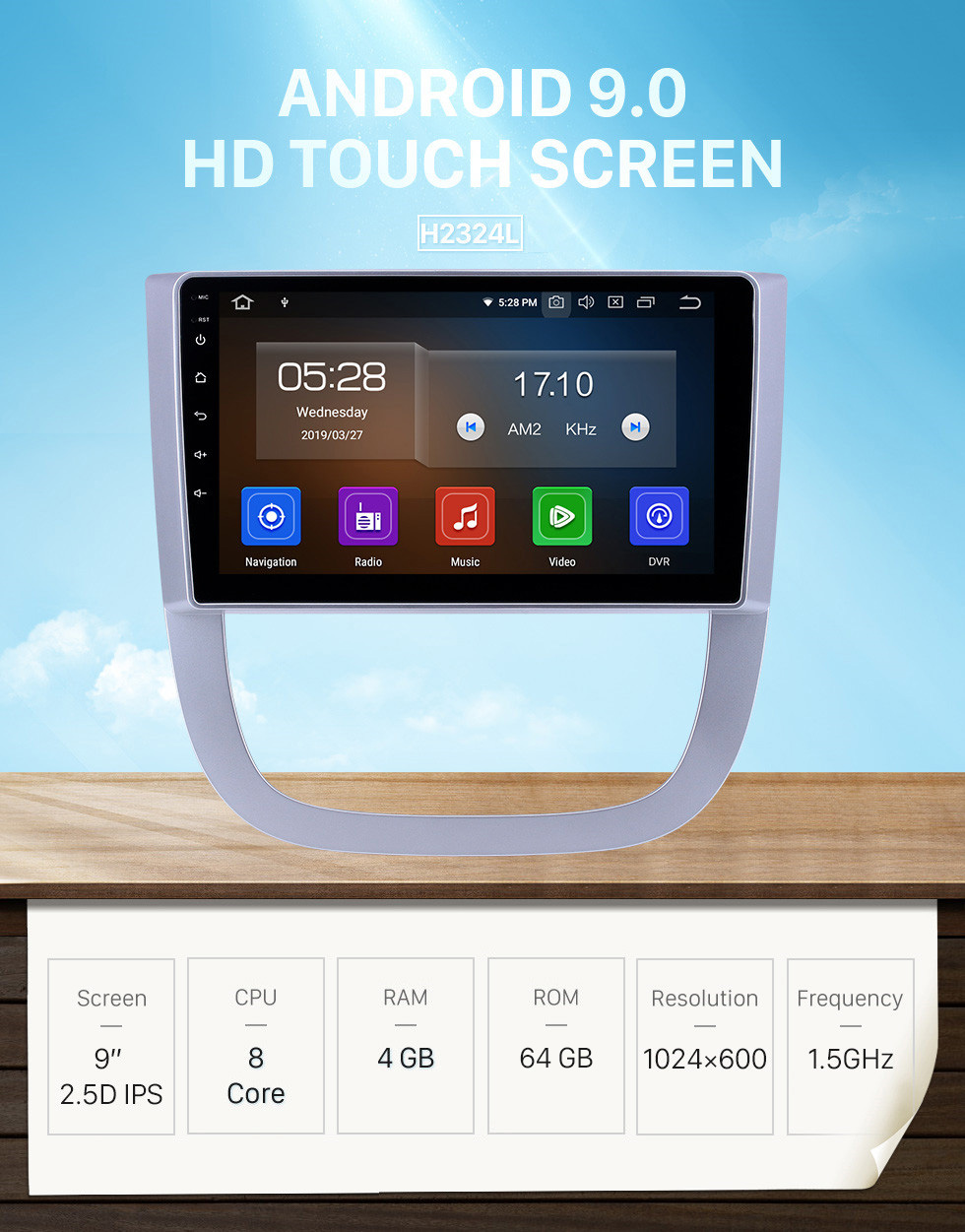 Seicane HD Touchscreen 2005-2012 Buick FirstLand GL8 Android 9.0 9 inch GPS Navigation Radio Bluetooth USB Carplay support DAB+ TPMS