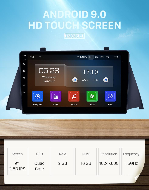 Seicane 2015 Zotye Domy x5 Android 9.0 9 pouces navigation GPS Radio Bluetooth HD écran tactile WIFI USB AUX Carplay soutien TPMS SWC