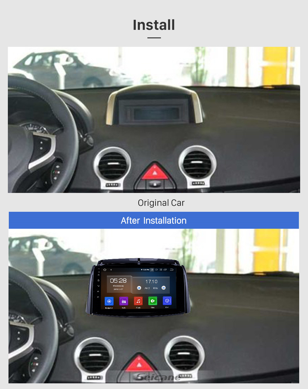 Seicane 2009-2016 Renault Koleos Android 9.0 9 inch GPS Navigation Radio Bluetooth HD Touchscreen WIFI USB Carplay support Digital TV