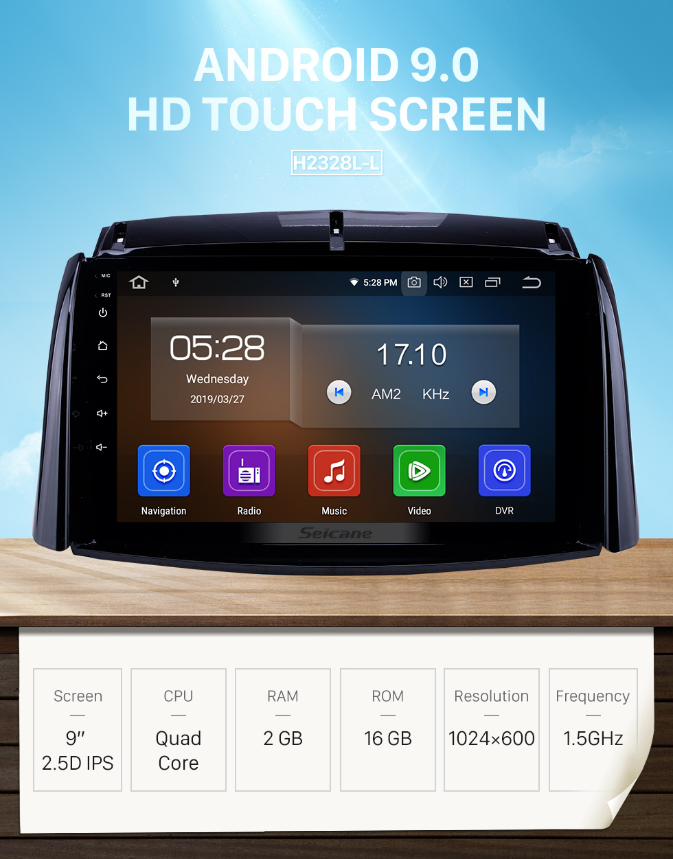 Seicane 9 inch Android 9.0 GPS Navigation Radio for 2009-2016 Renault Koleos with HD Touchscreen Carplay AUX Bluetooth support 1080P
