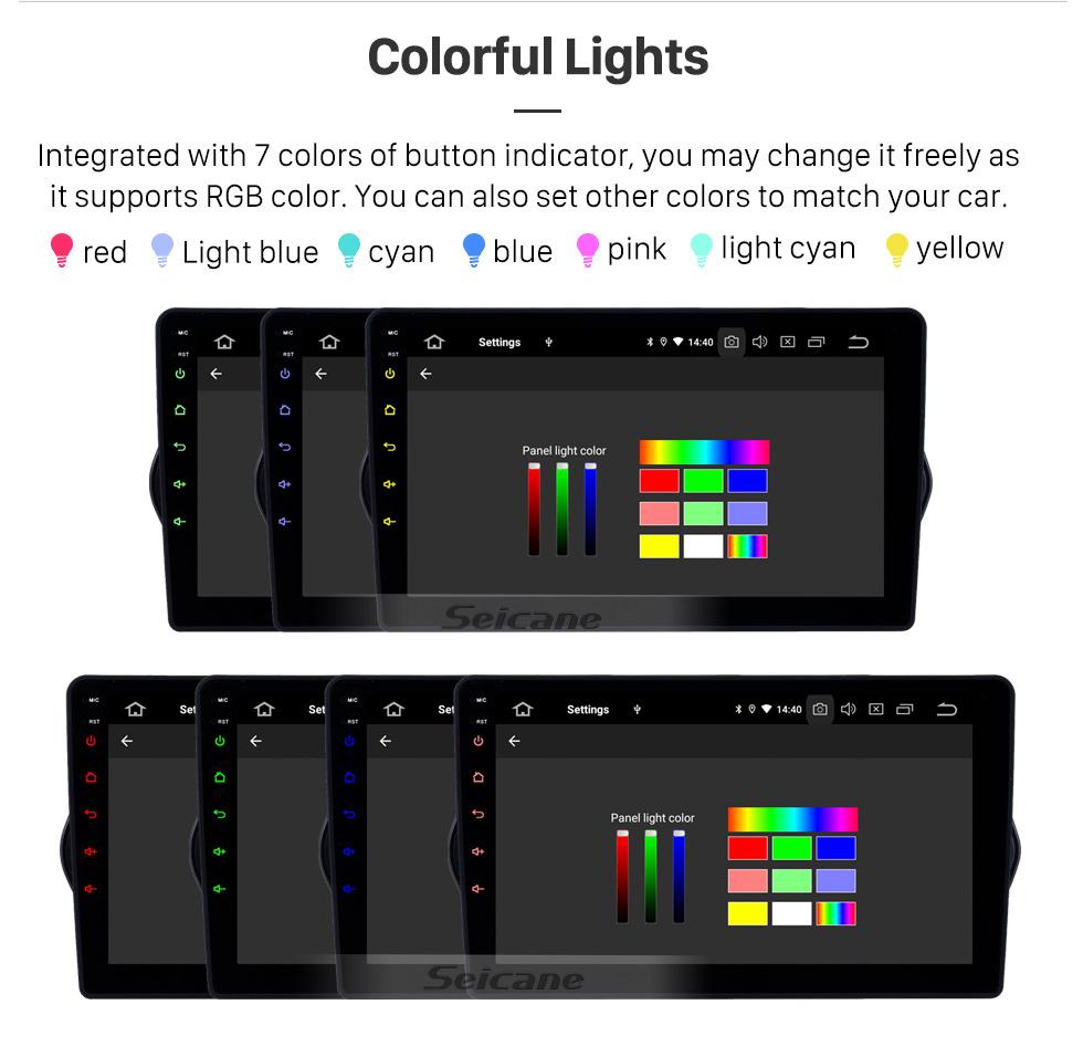 Seicane HD Touchscreen 2015-2018 Fiat EGEA Android 9.0 9 Zoll GPS Navigationsradio Bluetooth WIFI USB Carplay Unterstützung DAB + TPMS OBD2