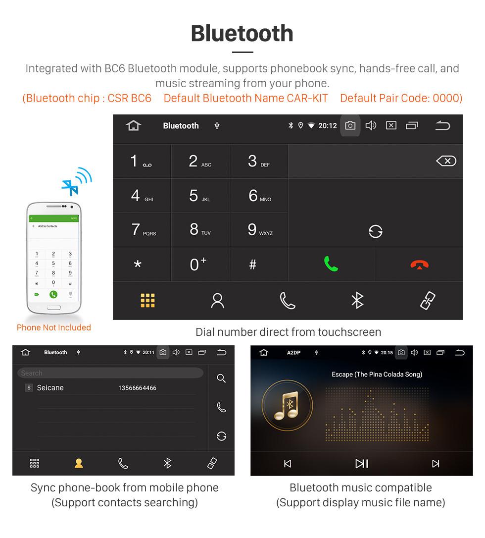Seicane 2015-2018 Suzuki Celerio Android 9.0 9 polegada Navegação GPS Rádio Bluetooth HD Touchscreen USB Carplay apoio TV Digital DAB +
