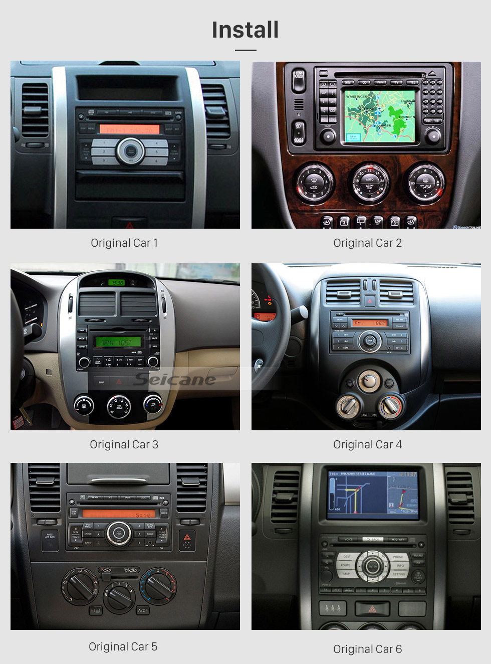 Seicane Android 9.0 2 Din Universal NISSAN TOYOTA Honda Radio GPS Navigation System Car Stereo with Mirror Link WiFi DVD Player Bluetooth 1080P Video USB