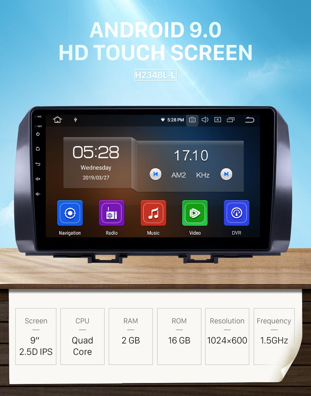 Seicane Radio Android 9.0 de 10.1 pulgadas para 2006 Toyota B6 / 2008 Subaru DEX / 2005 Daihatsu WO Bluetooth Pantalla táctil Navegación GPS Carplay support SWC