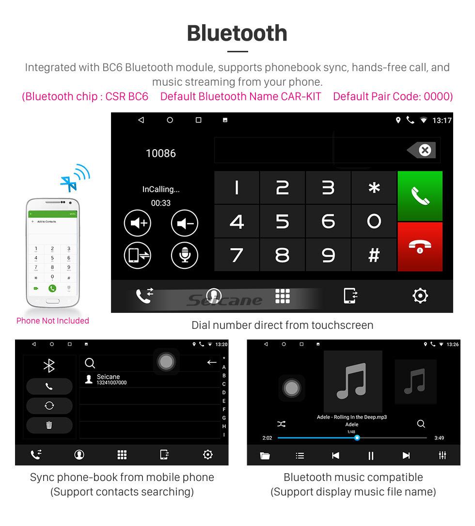 Seicane Android 8.1 9 pouces Radio de navigation GPS pour 2007-2012 GMC Yukon / Acadia / Tahoe Chevy Chevrolet Tahoe / Suburban Buick Enclave avec écran tactile HD Prise en charge Bluetooth OBD2 Carplay