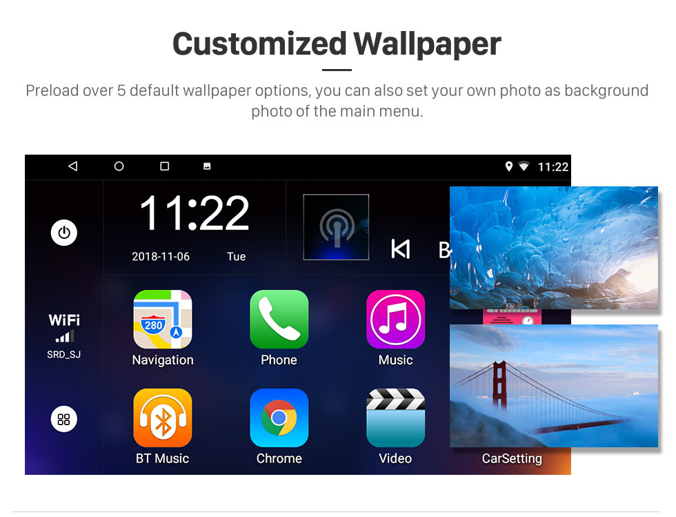 Seicane 2010 Fiat Stilo Android 8.1 Pantalla táctil HD 9 pulgadas AUX Bluetooth WIFI USB Navegación GPS Soporte de radio OBD2 SWC Carplay DVR