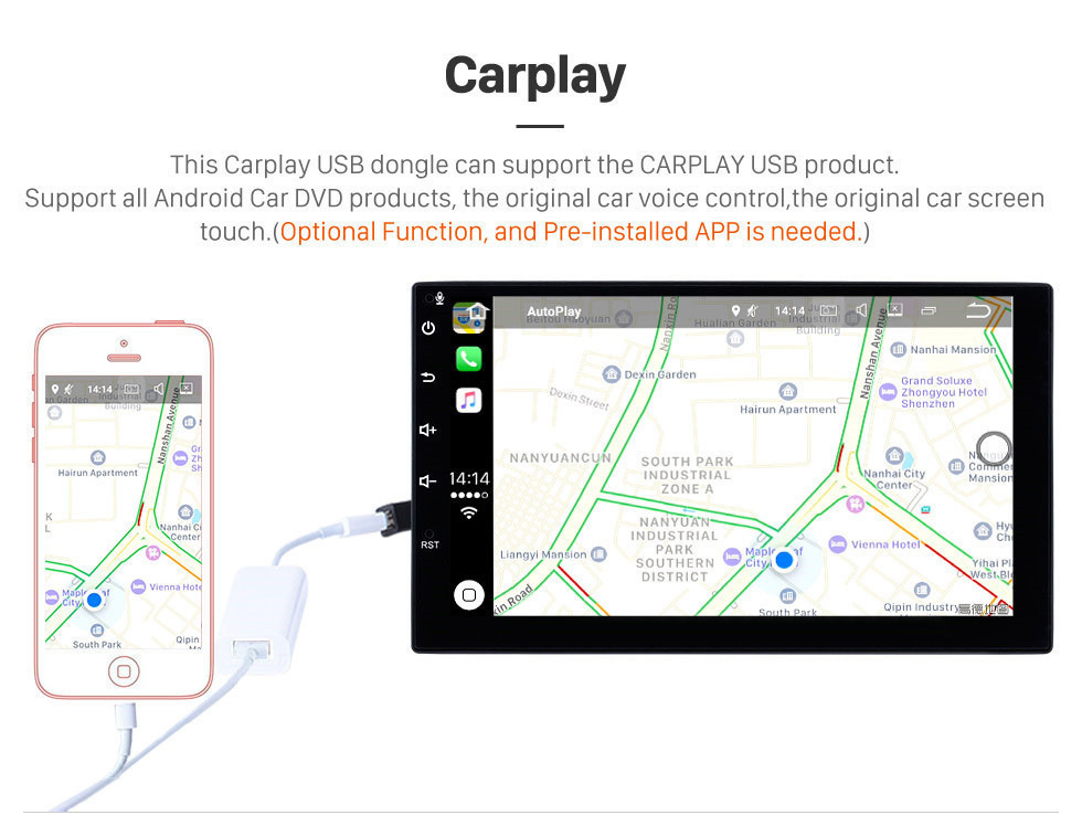 Seicane HD Touchscreen 9 pulgadas Android 8.1 Radio de navegación GPS para 2000-2016 Peugeot 206 con Bluetooth AUX WIFI compatible Carplay TPMS DAB +