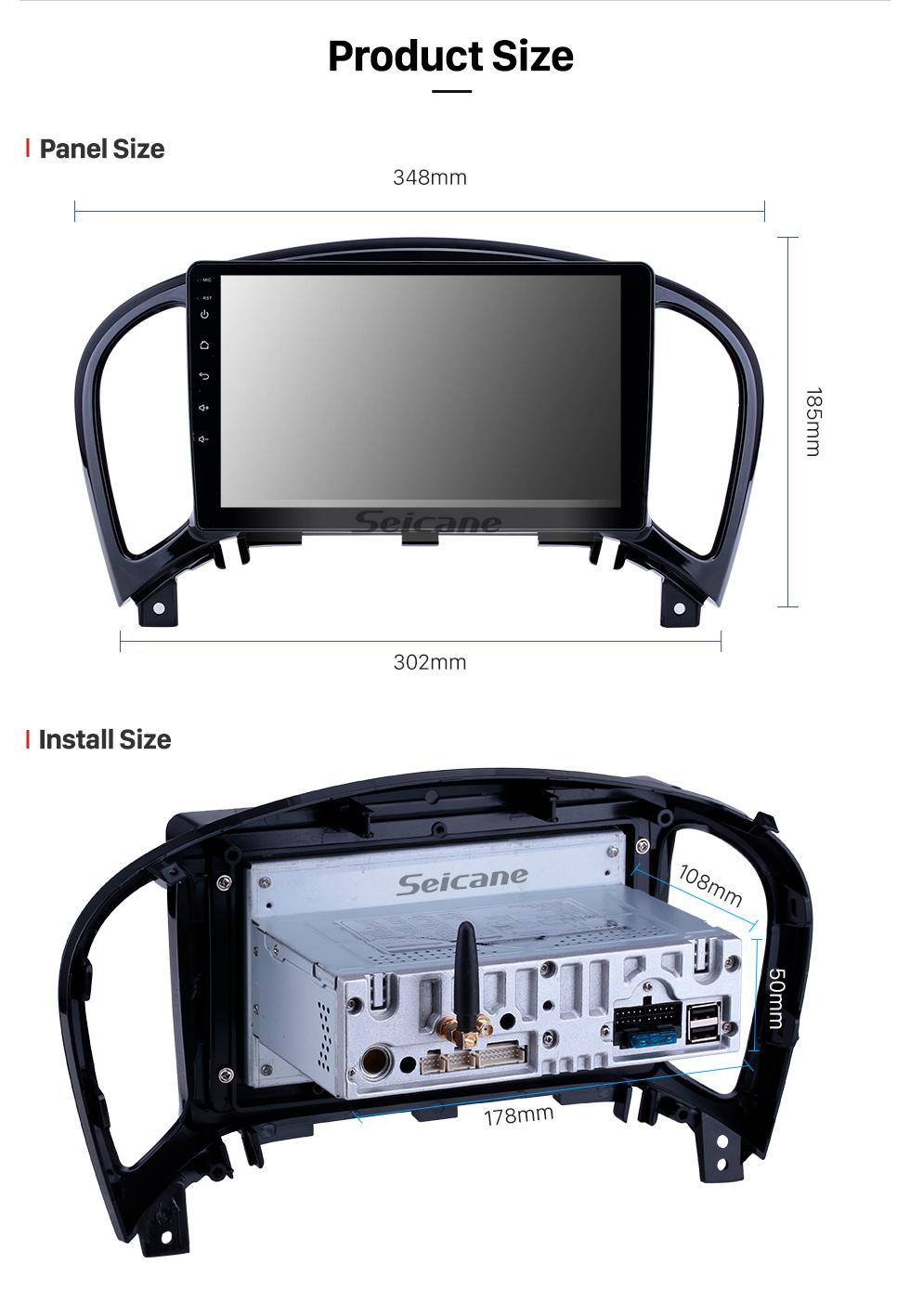 Seicane HD Touchscreen 2011-2016 Nissan Infiniti ESQ/Juke Android 9.0 9 inch GPS Navigation Radio Bluetooth USB WIFI Carplay support DAB+ TPMS OBD2