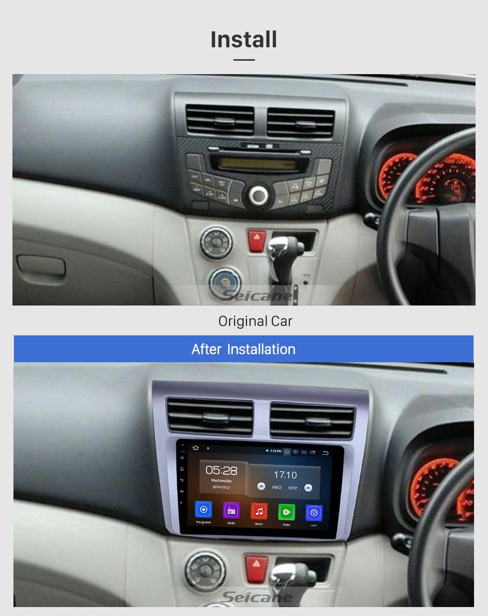 Seicane Android 9.0 9-дюймовый GPS-навигатор для 2012-2014 Proton Myvi с сенсорным экраном HD Carplay Bluetooth Mirror Link Поддержка цифрового ТВ