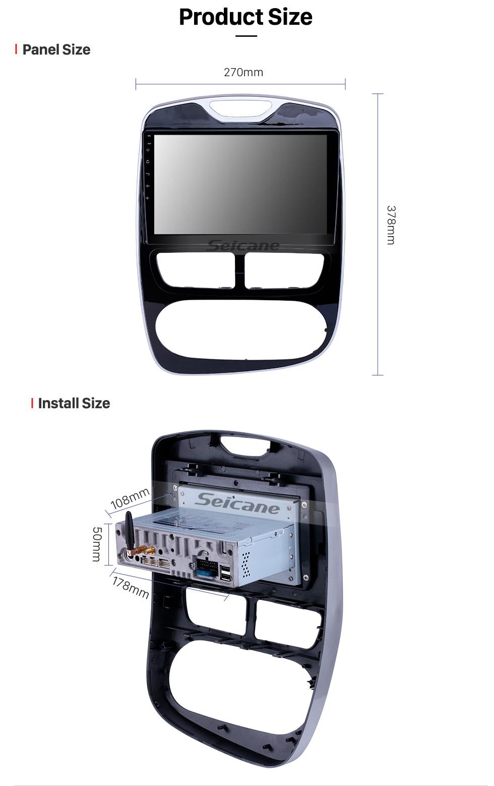 Seicane 10,1 Zoll Android 9.0 GPS Navigationsradio für 2012-2016 Renault Clio Digital / Analog Bluetooth HD Touchscreen Carplay Unterstützung DVR