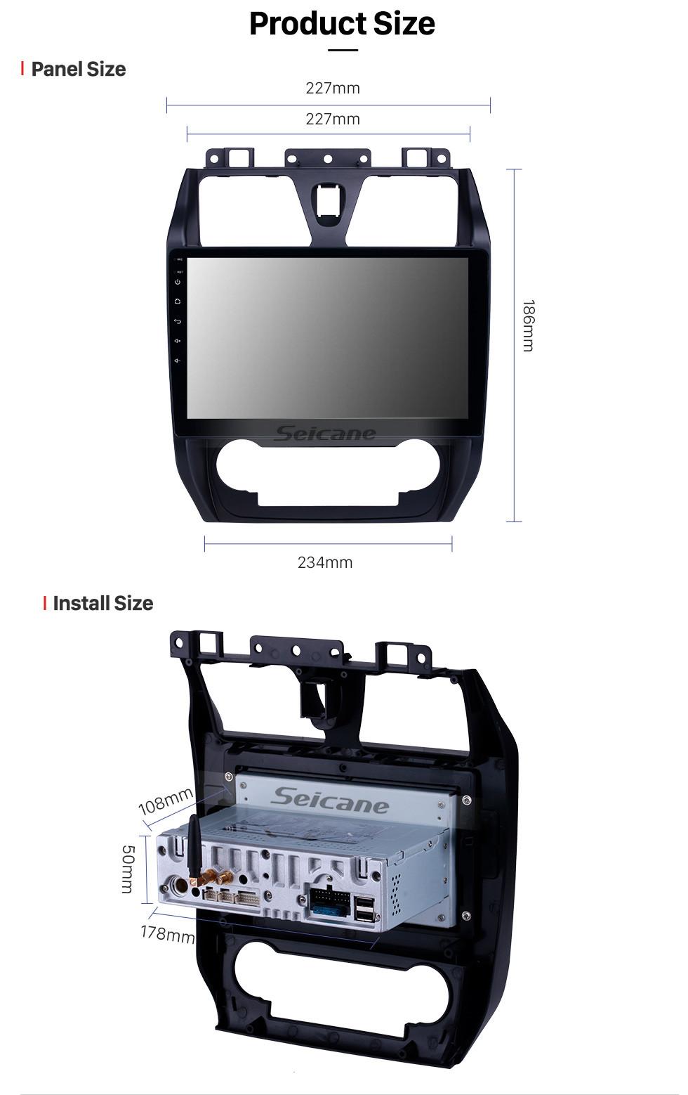 Seicane 10,1 pouces Android 9.0 Radio de navigation GPS pour 2012-2013 Geely Emgrand EC7 avec écran tactile HD Prise en charge Bluetooth Bluetooth 1080P