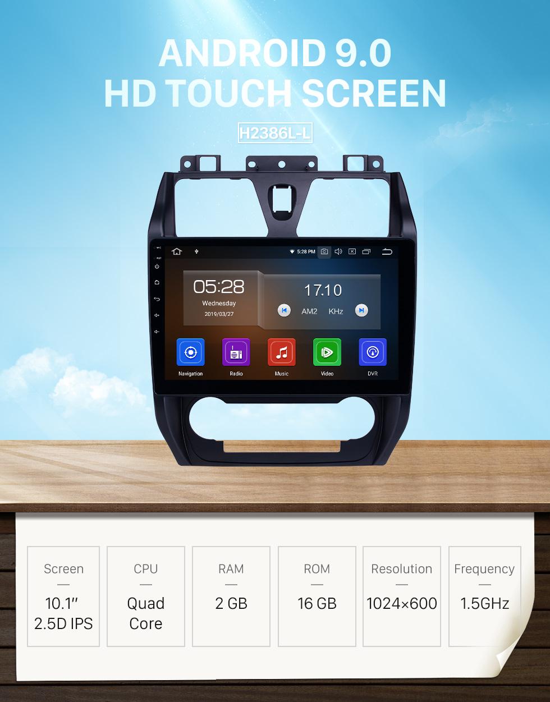 Seicane 10,1 polegadas 2012-2013 Geely Emgrand EC7 Android 9.0 Navegação GPS Rádio Bluetooth HD Touchscreen Suporte para Carplay Espelho Link