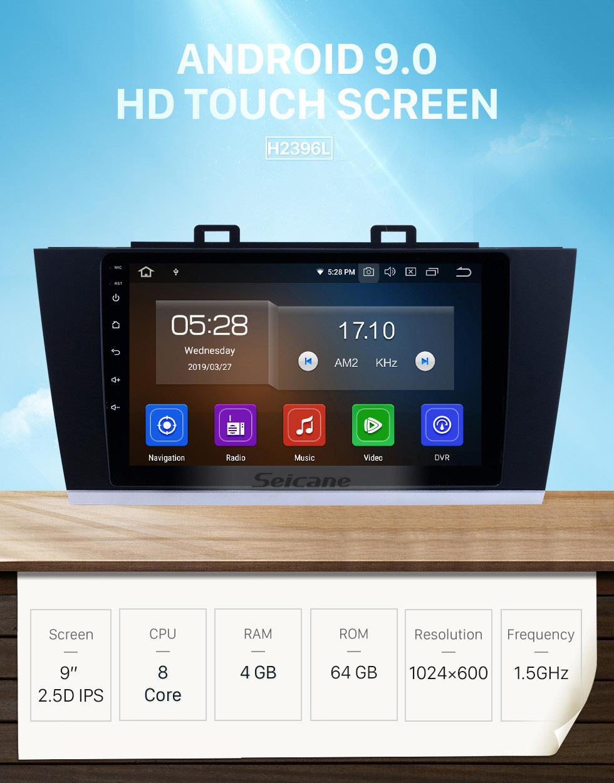 Seicane OEM 9 pulgadas Android 9.0 Radio para 2015-2018 Subaru Legacy Bluetooth HD Pantalla táctil Navegación GPS Música AUX Carplay soporte TPMS