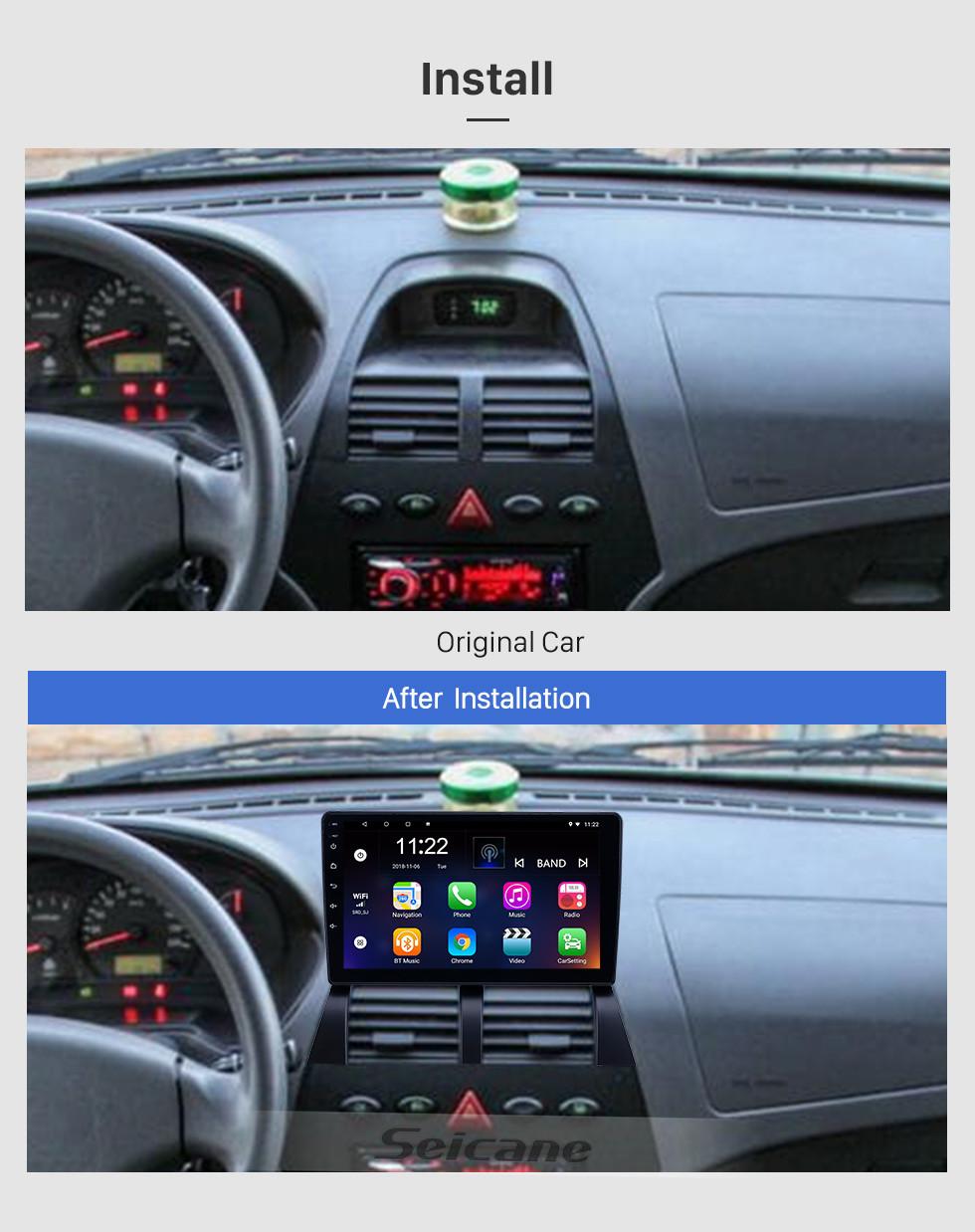 Seicane HD Touchscreen 9 Zoll Android 8.1 GPS Navigationsradio für 2014 Saipa Benue mit Bluetooth AUX WIFI Unterstützung Carplay TPMS DAB +