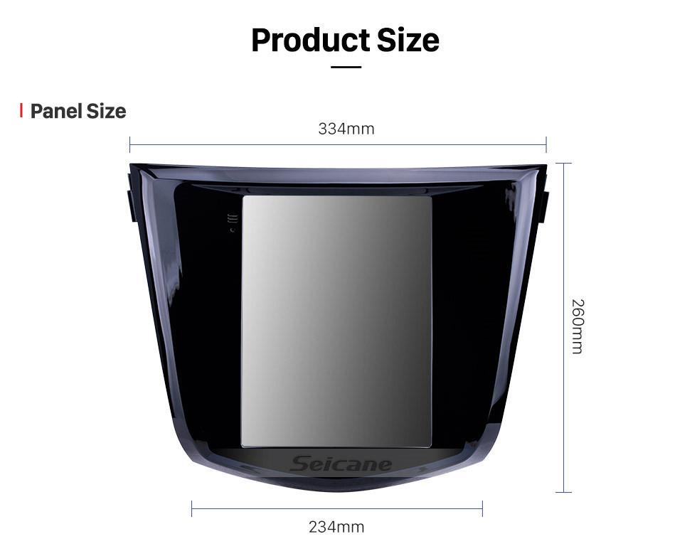 Seicane Pantalla táctil HD 2014 Nissan X-Trail Qashqai Android 9.1 9.7 pulgadas Navegación GPS Radio Bluetooth soporte TV digital Carplay