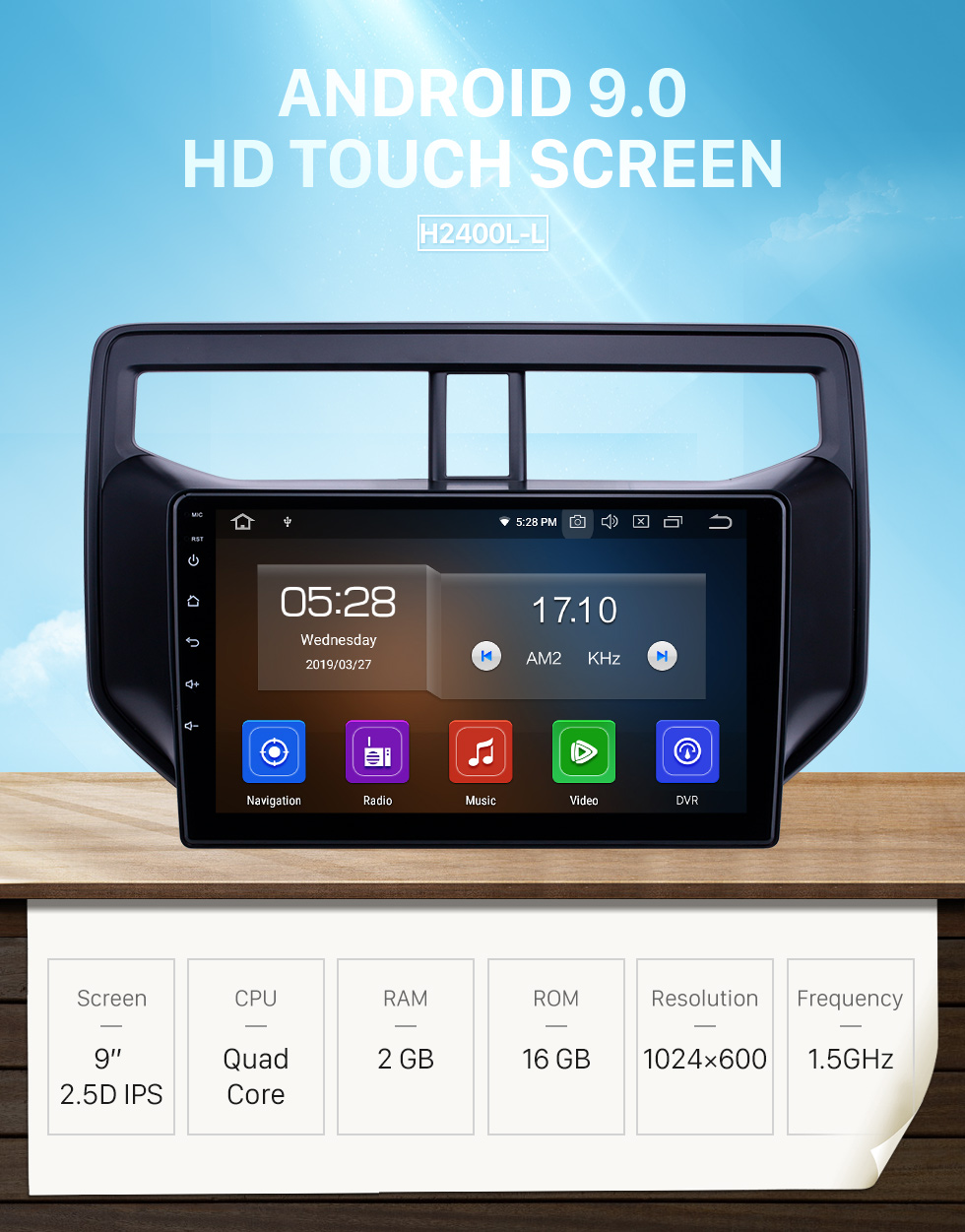 Seicane Android 9.0 9 inch GPS Navigation Radio for 2010-2019 Toyota Rush with HD Touchscreen Carplay Bluetooth support Digital TV