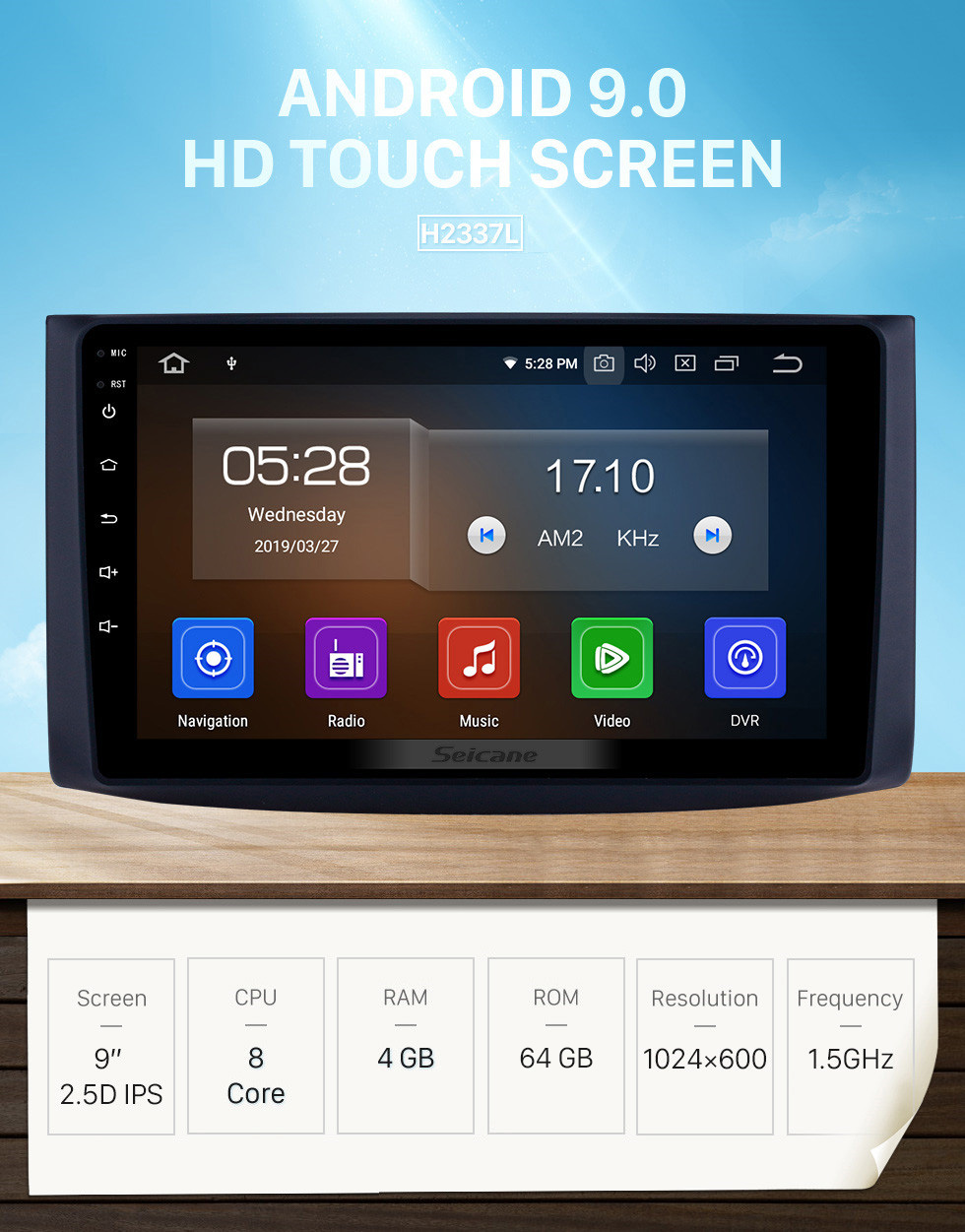 Seicane Android 9.0 HD Touchscreen 9 inch GPS Navigation Radio for 2006-2019 chevy Chevrolet Aveo/Lova/Captiva/Epica/RAVON Nexia R3/Gentra with Carplay Bluetooth support DAB+