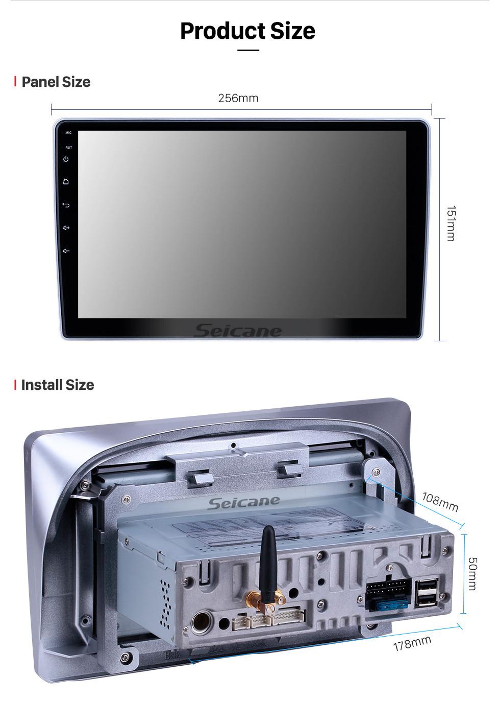 Seicane 10,1 Zoll Android 9.0 GPS Navigationsradio für 2004-2013 Nissan Paladin mit HD Touchscreen Carplay AUX Bluetooth Unterstützung 1080P