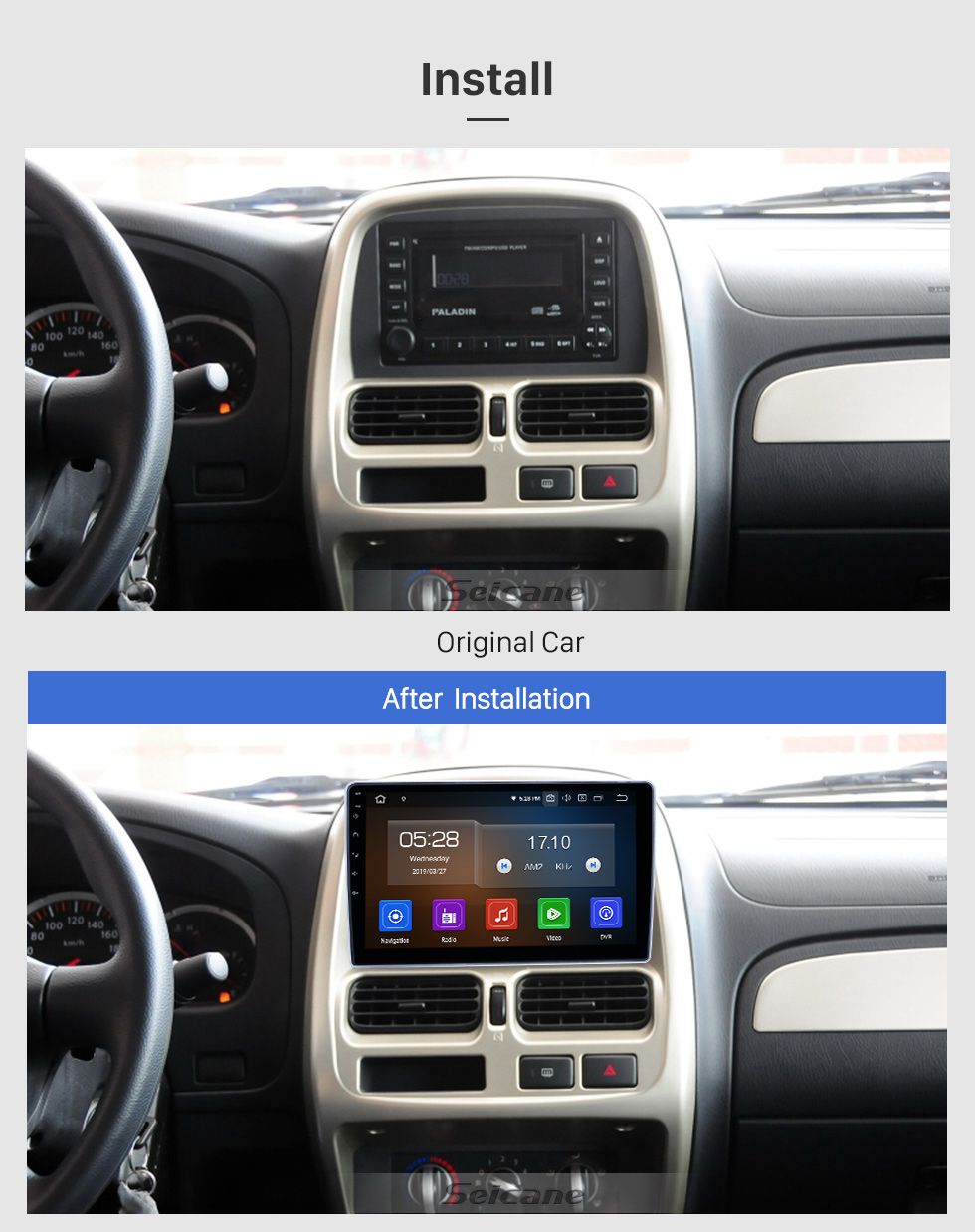 Seicane 10.1 inch 2004-2013 Nissan Paladin Android 9.0 GPS Navigation Radio Bluetooth HD Touchscreen Carplay support Mirror Link