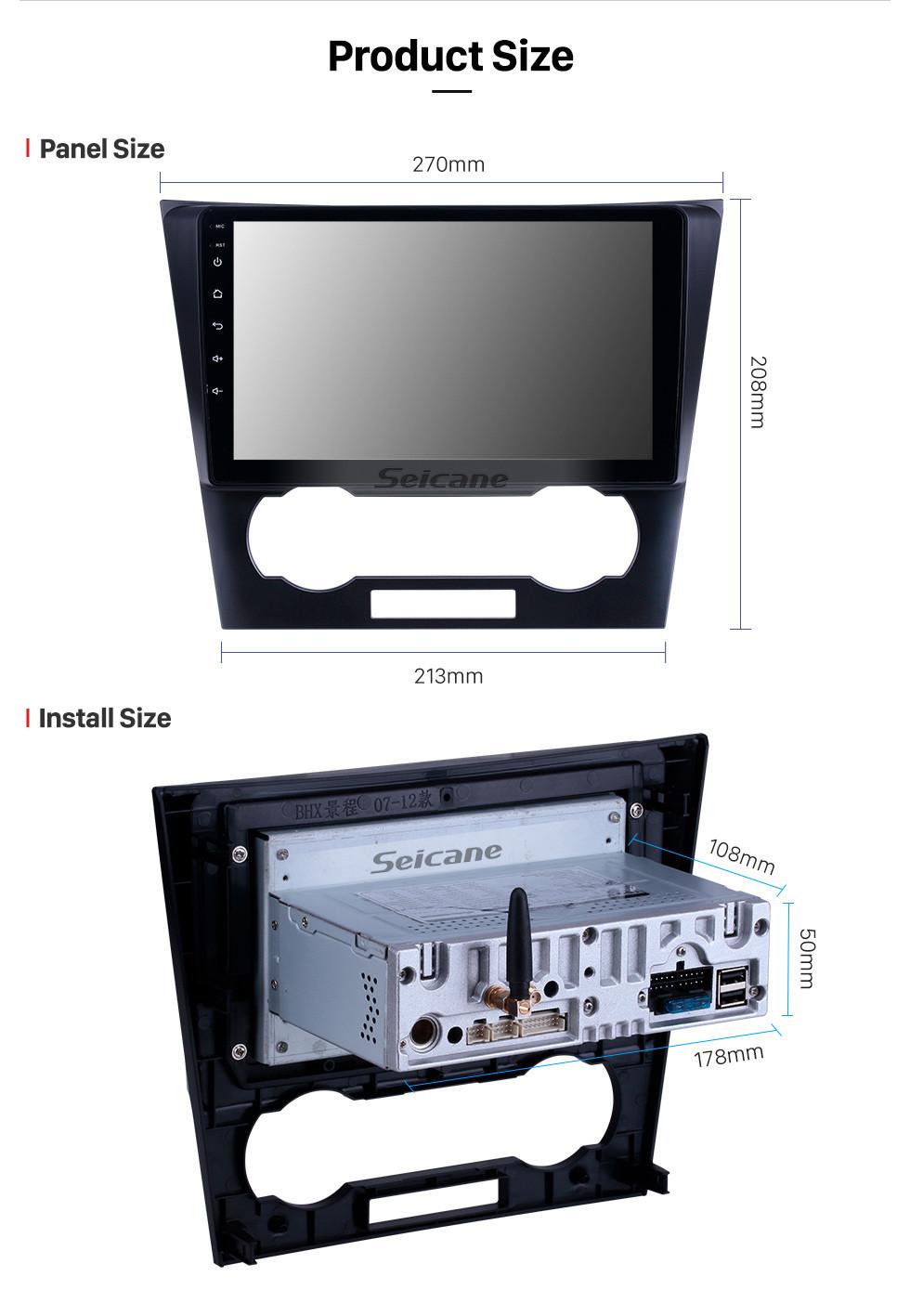 Seicane 2007-2012 Chevy Chevrolet Epica Android 9.0 9-дюймовый GPS-навигация Радио Bluetooth HD Сенсорный экран USB Поддержка Carplay DAB + SWC