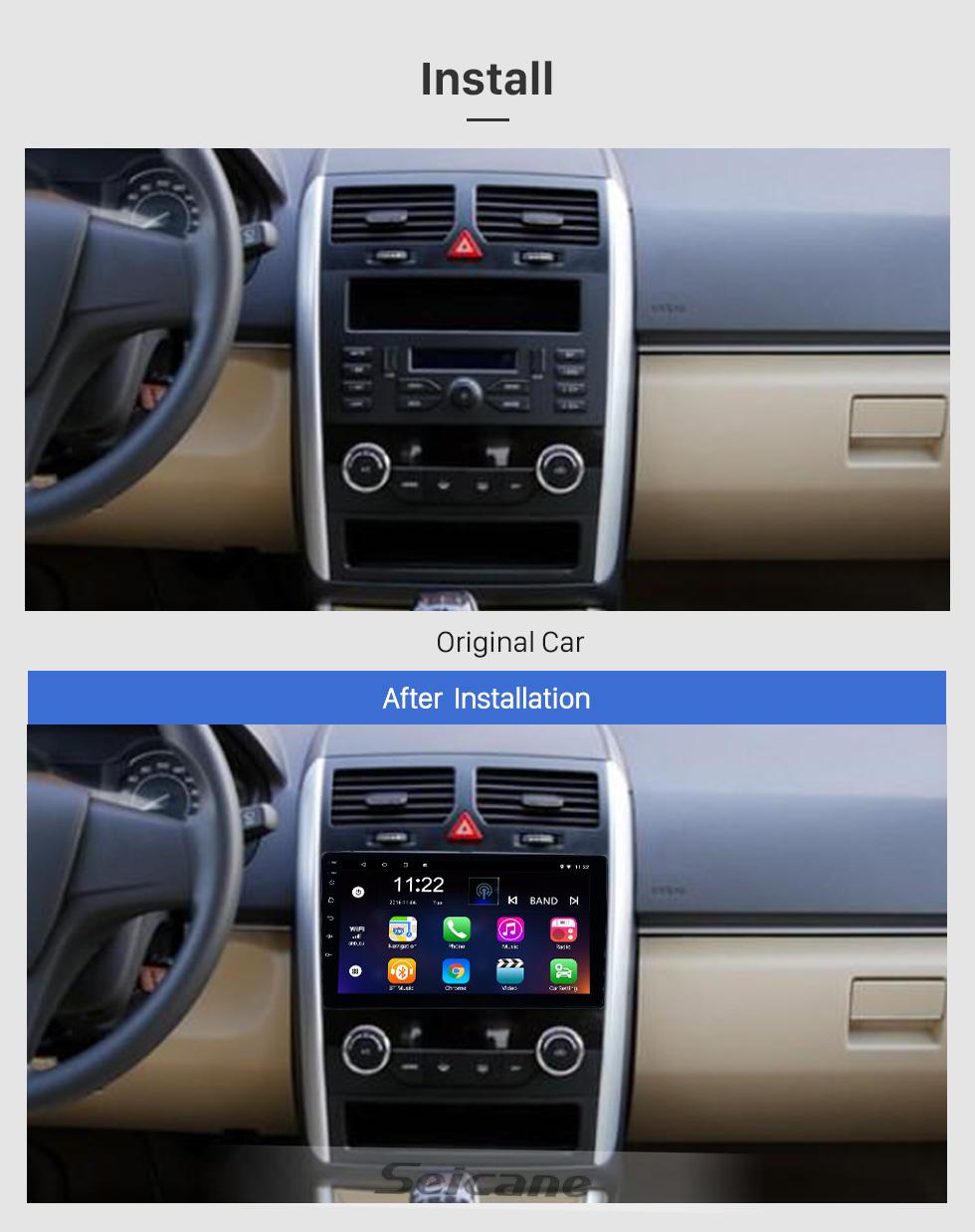 Seicane Android 8.1 9-дюймовый HD сенсорный экран GPS-навигация Радио для 2016-2017 Baic E Series E130 E150 / EV Series EV160 EV200 / Senova D20 с поддержкой Bluetooth Carplay Резервная камера