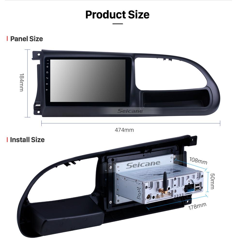 Seicane 2017-2019 Ford Teshun Android 9.0 9 Zoll GPS Navigationsradio Bluetooth HD Touchscreen USB Carplay Unterstützung DVR DAB + SWC