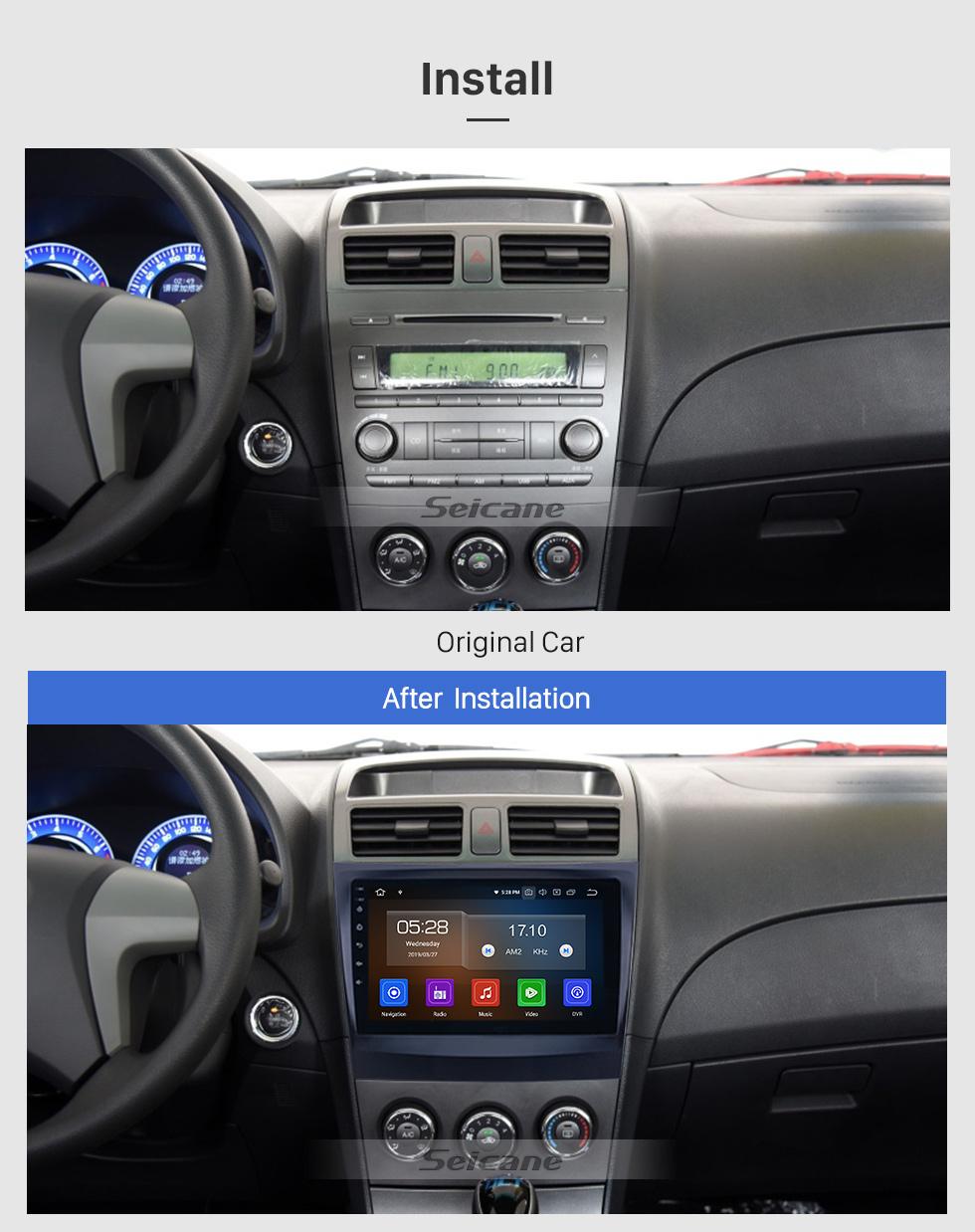 Seicane 2014-2015 BYD L3 Android 9.0 9 polegadas GPS Navegação Rádio Bluetooth HD Touchscreen USB Carplay suporte DVR DAB + SWC