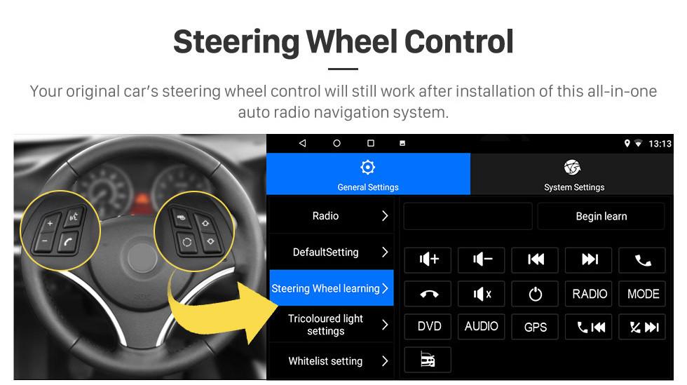 Seicane 2019 Tiago Nexon Android 8.1 HD Écran tactile Radio de navigation GPS de 9 pouces avec prise en charge USB WIFI Bluetooth SWC DVR Carplay