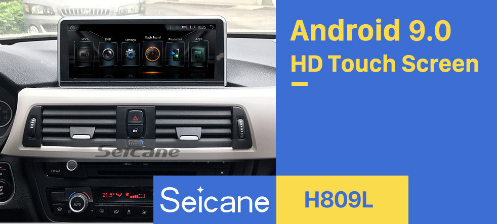 Seicane 10.25 Inch Android 9.0 HD Touchscreen 2013-2016 BMW 3 Series F30/F31/F34/F35 Aftermarket Radio Head Unit Car Stereo GPS Navigation System Bluetooth Phone Support WIFI Steering Wheel Control Rearview Camera