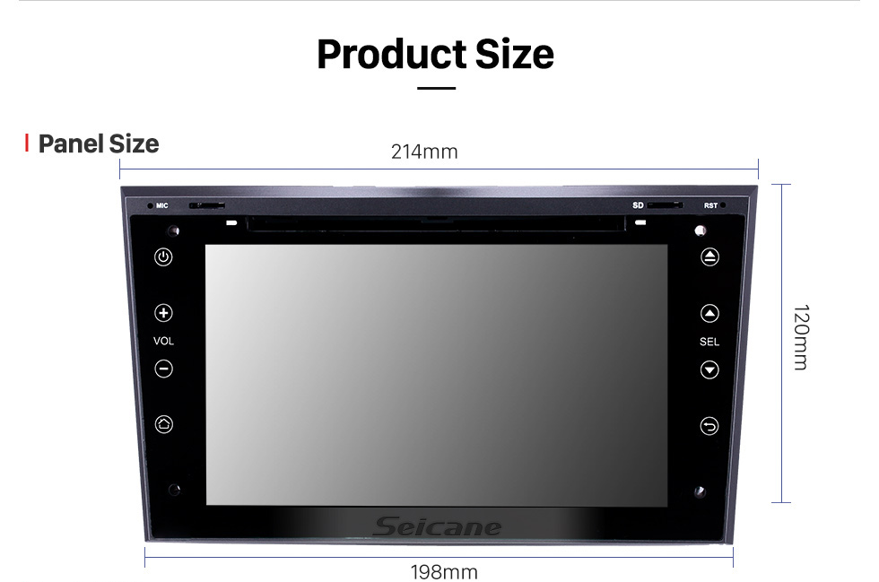 Seicane Android 9.0 7 inch for 2005 2006 2007-2011 Opel Astra/Antara/Vectra/Corsa/Zafira Radio HD Touchscreen GPS Navigation System with Bluetooth support Carplay DVR
