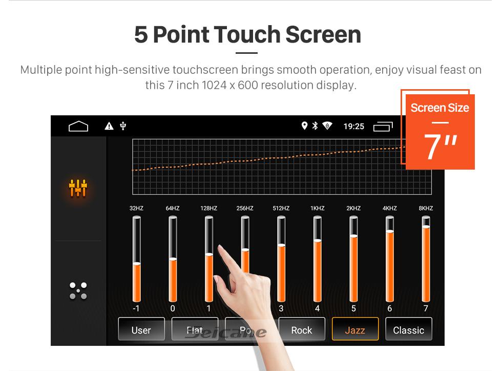 Seicane 7 zoll android 9.0 in dash radio für 2000-2006 bmw 3 serie m3 e46 316i rover 75 mg zt gps navigation auto dvd player audio system bluetooth radio musik unterstützung spiegel link 3g wifi dab +
