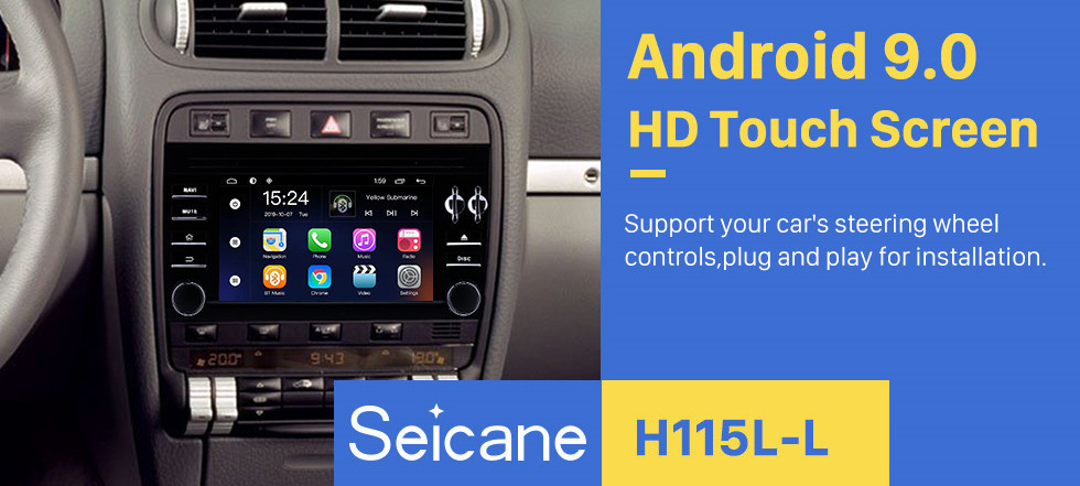 Seicane 2003 2004 2005 2006-2011 Porsche Cayenne 7 inch Android 9.0 autoradio Bluetooth DVD Player Support GPS Sat Nav Audio Auto A/V 1080P Video Mirror Link DVR Steering wheel control Stereo Upgrade