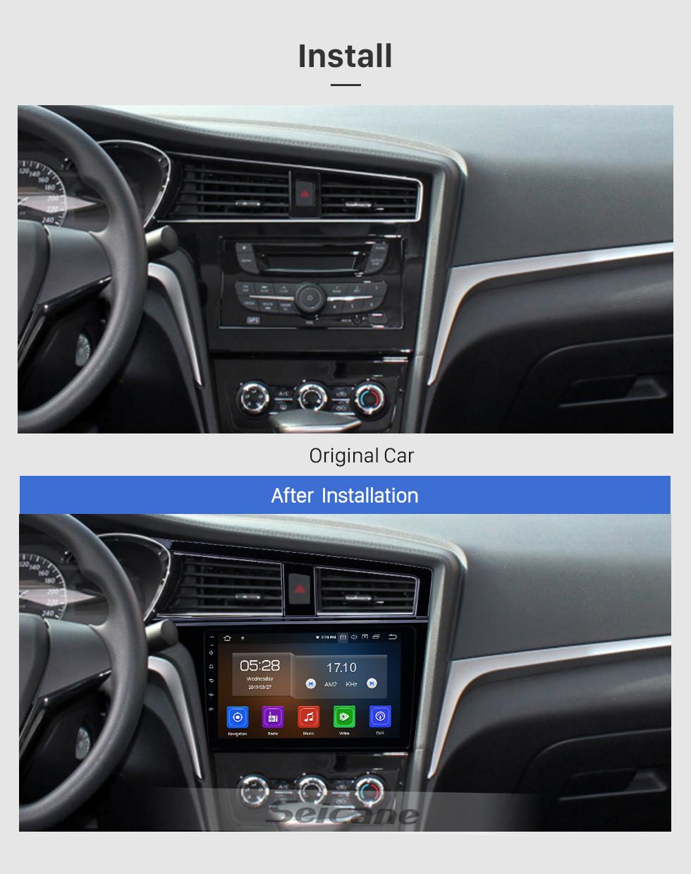 Seicane Android 9.0 9 polegadas Rádio Navegação GPS para 2017-2019 Venucia D60 com HD Touchscreen Carplay Bluetooth suporte TV Digital