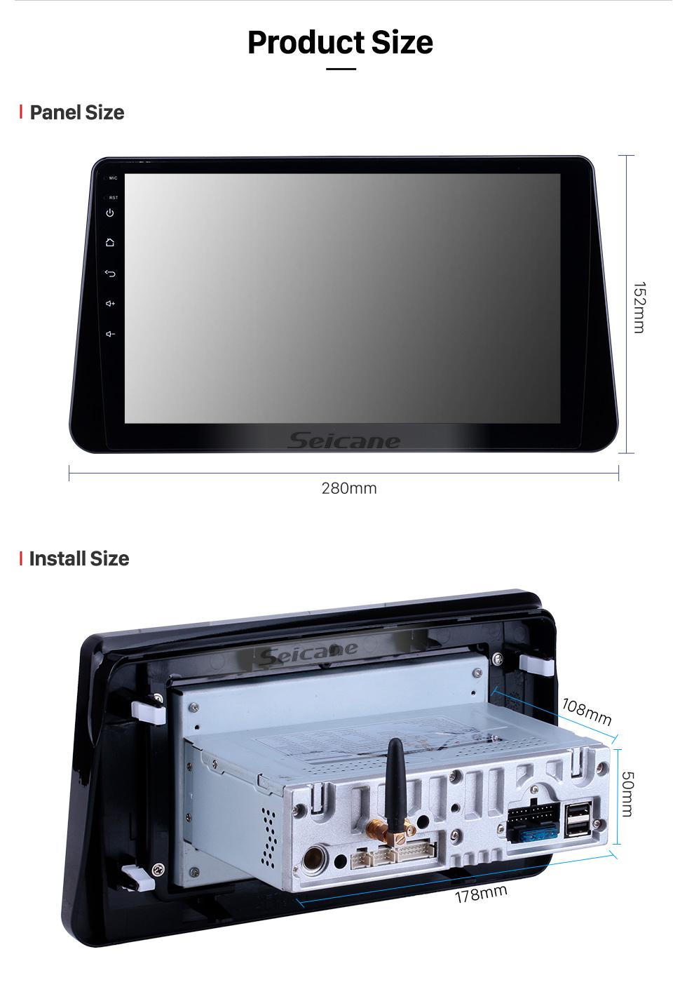 Seicane 10,1 Zoll Android 9.0 GPS Navigation Radio für 2017-2019 Nissan Kicks Bluetooth HD Touchscreen Carplay Unterstützung DVR SWC