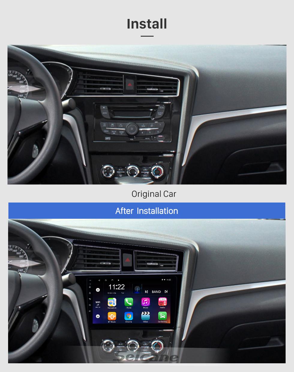 Seicane Android 8.1 9 Zoll HD Touchscreen GPS Navigationsradio für 2017-2019 Venucia D60 mit Bluetooth Unterstützung DVR OBD2 Carplay