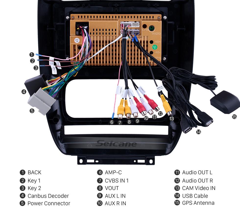 Seicane 10,1-дюймовый GPS-навигатор для Android 8.1 для 2006-2012 Chrysler Pacifica с сенсорным экраном HD Поддержка Bluetooth Carplay Резервная камера