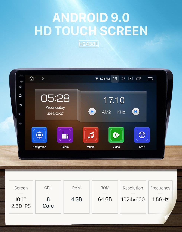 Seicane Radio de navegación GPS Android 9.0 de 10.1 pulgadas para Venucia M50V 2017-2019 con pantalla táctil HD Carplay Bluetooth compatible con OBD2