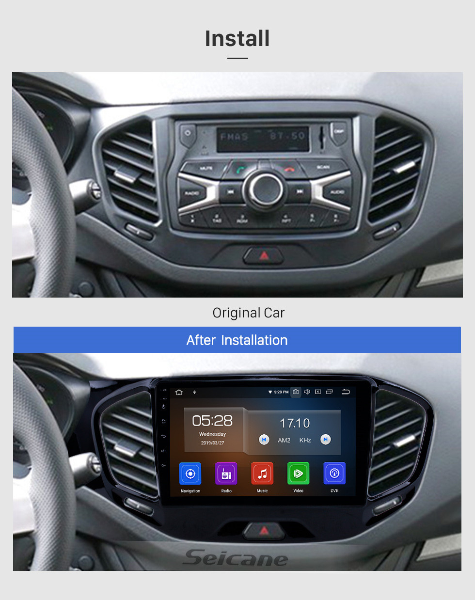 Seicane Android 9.0 9 inch GPS Navigation Radio for 2015-2019 Lada Vesta Cross Sport with HD Touchscreen Carplay Bluetooth support Digital TV
