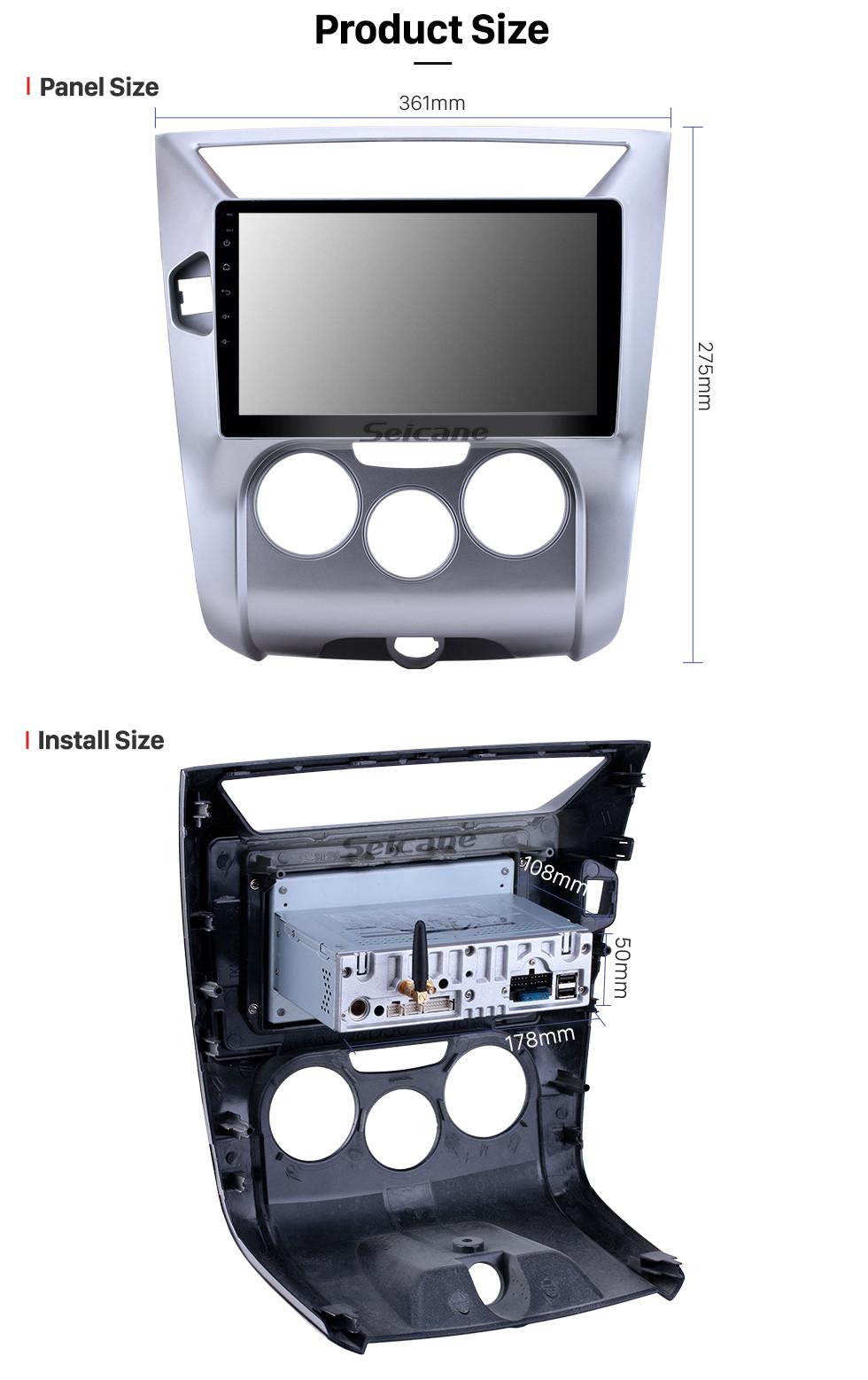 Seicane 10,1 дюйма 2012-2016 Venucia D50 / R50 Android 9.0 GPS навигация Радио WIFI Bluetooth HD с сенсорным экраном Поддержка Carplay Mirror Link