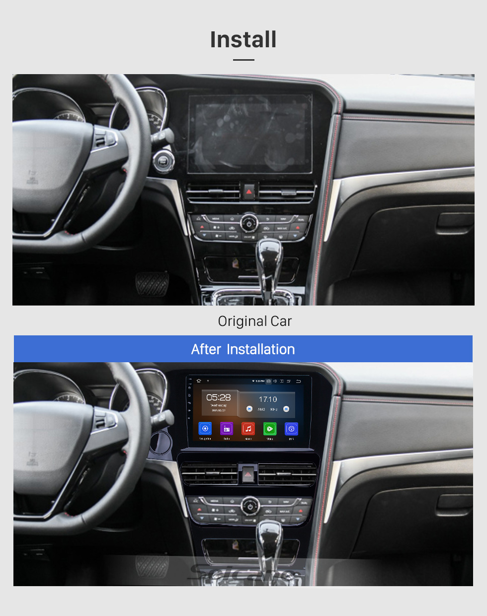 Seicane 10,1 Zoll Android 9.0 GPS Navigation Radio für 2018-2019 Venucia T70 High-Version mit HD Touchscreen Carplay Bluetooth-Unterstützung OBD2