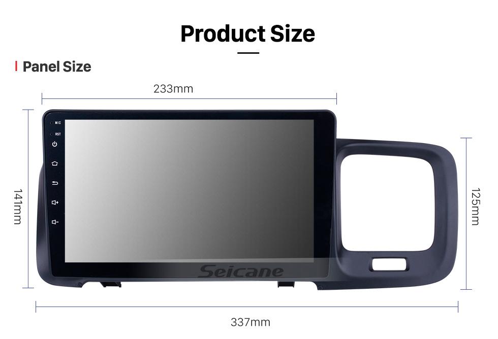 Seicane HD Touchscreen 9 Zoll Android 8.1 GPS Navigationsradio für Volvo S60 mit Bluetooth AUX WIFI Unterstützung Carplay TPMS DAB + OBD2