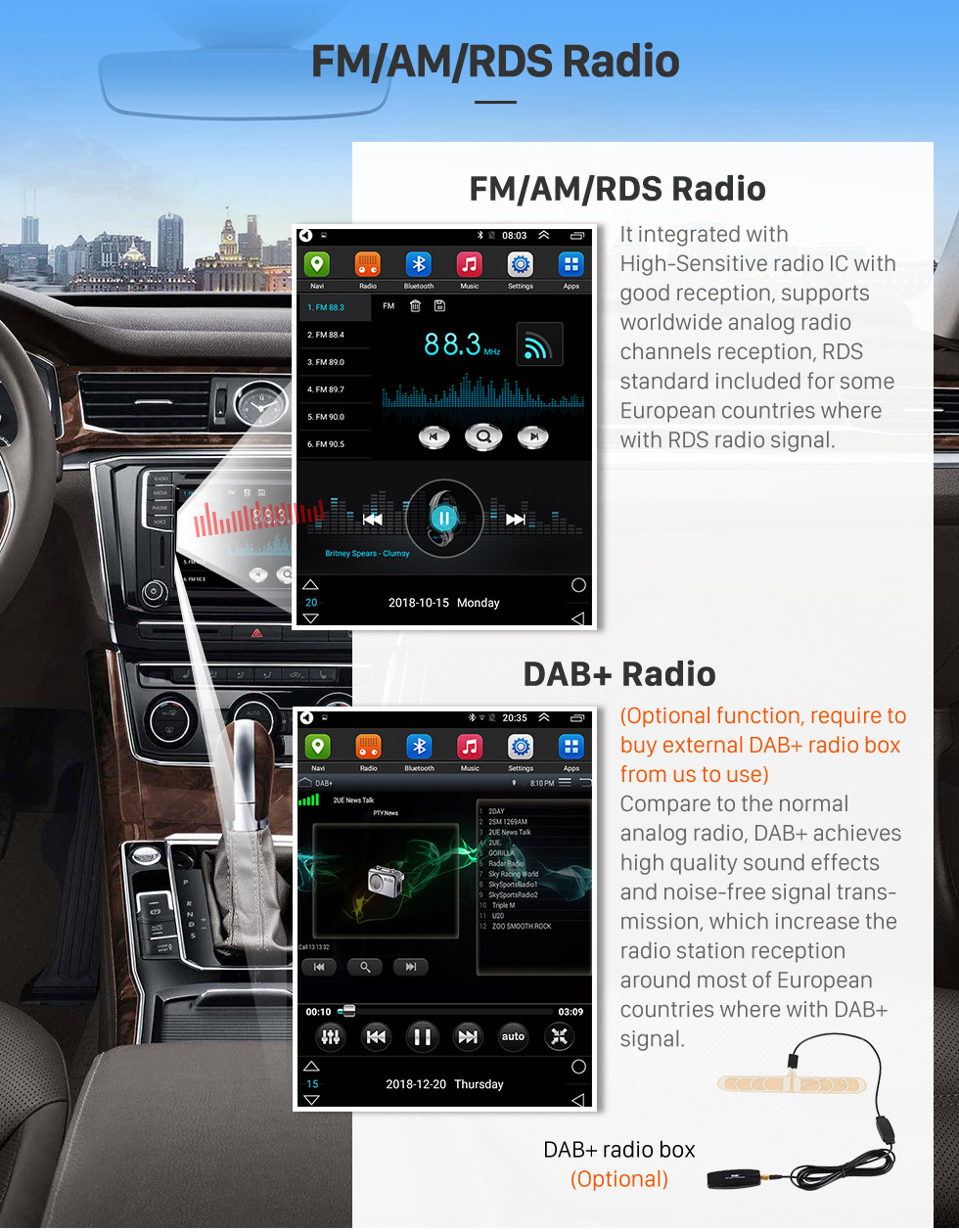 Seicane 9.7 inch Android 9.1 2016 Chevy Chevrolet Cavalier GPS Navigation Radio with HD Touchscreen Bluetooth support Carplay Mirror Link