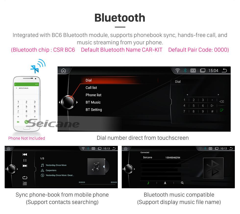 Seicane Android 9.0 10.25 polegadas Para 2009 2010 2011 2012 BMW Série 7 F01 F02 CIC LHD Rádio HD Touchscreen Navegação GPS com suporte Bluetooth Carplay SWC