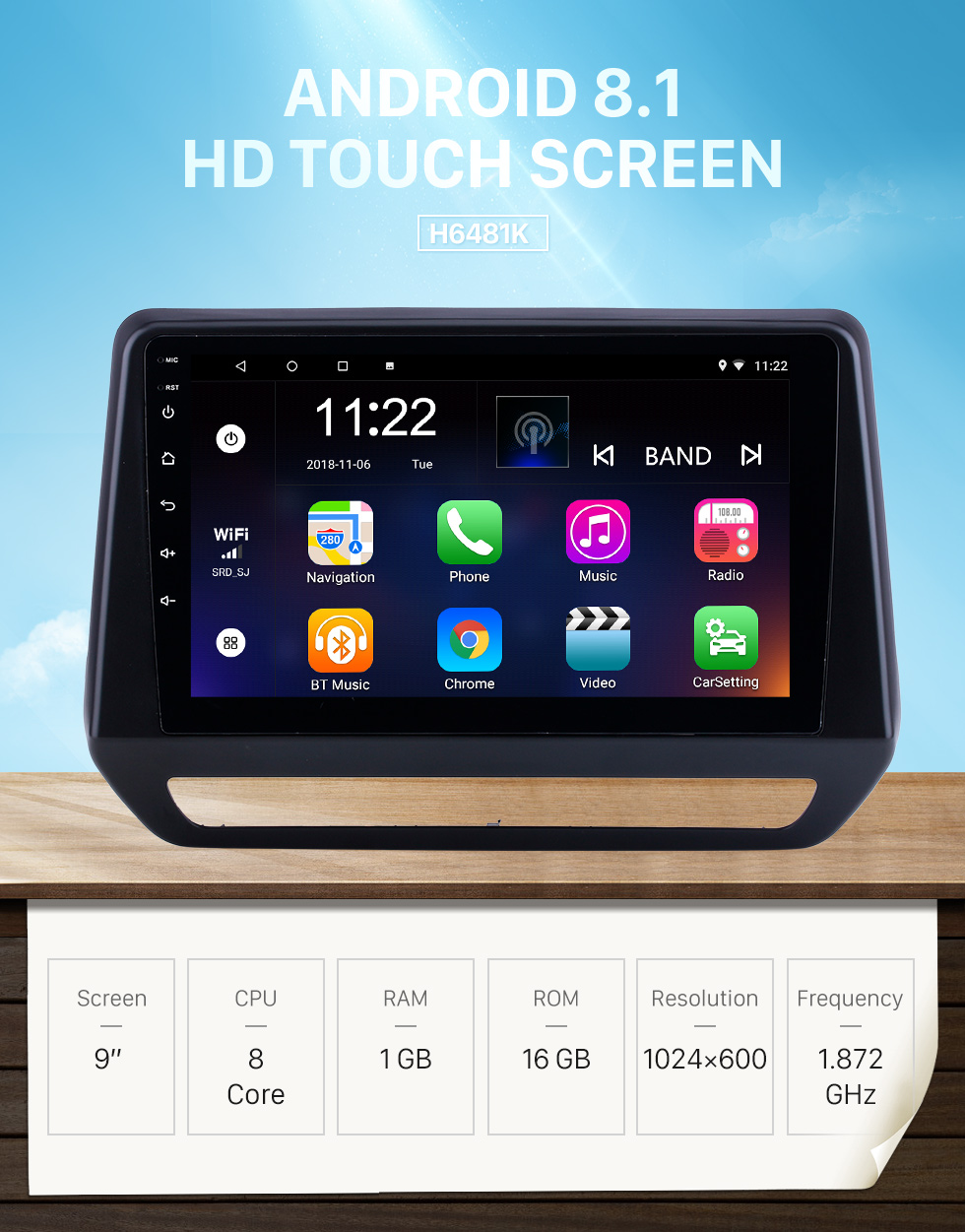 Seicane For 2019 Renault Triber Radio Android 8.1 HD Touchscreen 9 inch GPS Navigation with Bluetooth USB support Carplay SWC DVR