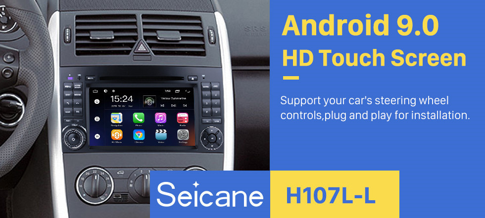 Seicane Android 9.0 7 Inch For 2004-2012 Mercedes Benz B Class W245 B200 C Class W203 S203 C180 C200 CLK Class C209 W209 C208 W208 Radio GPS Navigation HD Touchscreen Bluetooth Support 1080P Video